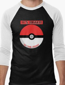 Pokemon - It's bigger on the inside.. Men's Baseball ¾ T-Shirt
