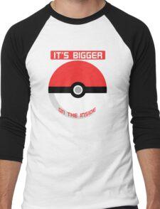 Pokemon - It's bigger on the inside.. Men's Baseball ¾ T-Shirt
