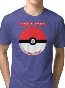 Pokemon - It's bigger on the inside.. Tri-blend T-Shirt