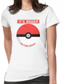 Pokemon - It's bigger on the inside.. Womens Fitted T-Shirt