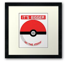 Pokemon - It's bigger on the inside.. Framed Print