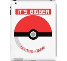 Pokemon - It's bigger on the inside.. iPad Case/Skin