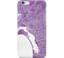 San Diego map lilac iPhone Case/Skin