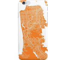 San Francisco map orange iPhone Case/Skin