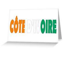 Côte d'Ivoire Greeting Card