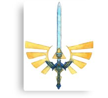 Master Sword - Triforce Of Courage Canvas Print