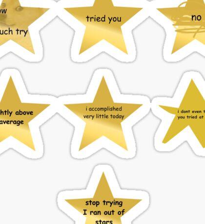 Gold Star Sticker Pack Sticker