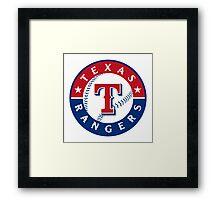 texas rangers Framed Print