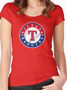 texas rangers Women's Fitted Scoop T-Shirt