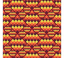 Seamless geometric pattern. Bright pixel design. Photographic Print