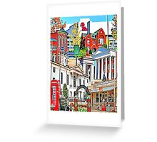 Oxford Vertical Collage Greeting Card