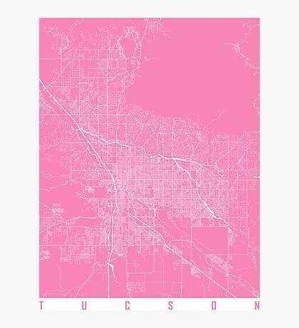 Tucson map pink Photographic Print