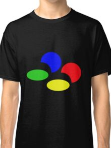 Super Nintendo SNES four colors quadcolor Classic T-Shirt