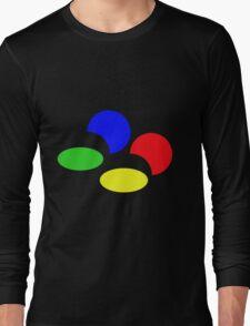 Super Nintendo SNES four colors quadcolor Long Sleeve T-Shirt