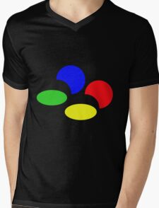 Super Nintendo SNES four colors quadcolor Mens V-Neck T-Shirt