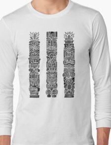 Tiki Totem – Black Long Sleeve T-Shirt