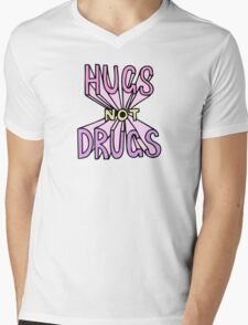 HUGS NOT DRUGS Mens V-Neck T-Shirt