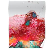 Abstract Painting Red & Gold Poster