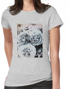 Blue Roses Womens Fitted T-Shirt