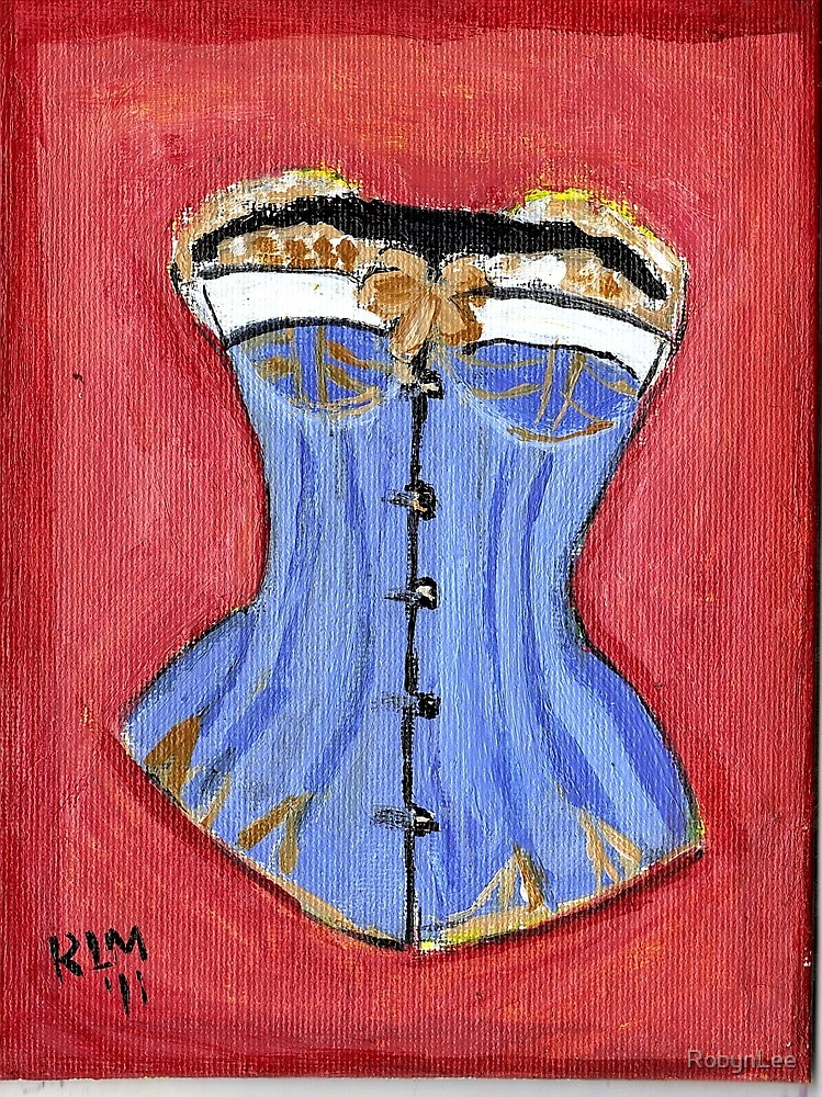 Baby Blue Bustier' by RobynLee