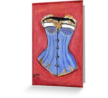 Baby Blue Bustier' Greeting Card
