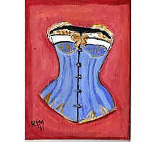 Baby Blue Bustier' Photographic Print