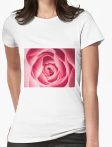 Rose Macro Womens Fitted T-Shirt