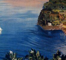 Italy Sorrento Bay of Naples vintage Italian travel advert Sticker
