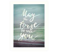 Inspirational lettering artwork ocean theme Art Print