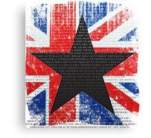 David Bowie Tribute Canvas Print