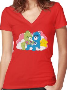 Care Bears Ink Women's Fitted V-Neck T-Shirt