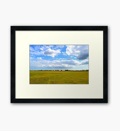 Empty Field Framed Print