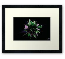 Shard Series 1 - Green/Purple Framed Print