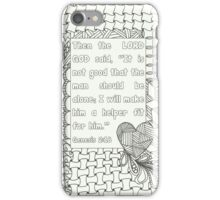 Zentangle-Genesis 2:18 iPhone Case/Skin