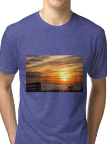 Sunset Over The Sea Tri-blend T-Shirt
