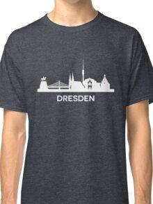 Dresden City Skyline, white Classic T-Shirt