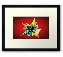 Shard Series 1 - Yellow/Teal Framed Print