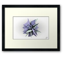 Shard Series 1 - Pastel Purple/Grey Framed Print