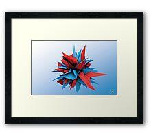 Shard Series 1 - Blue/Red Framed Print