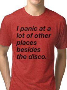 I LOVE TO PANIC Tri-blend T-Shirt