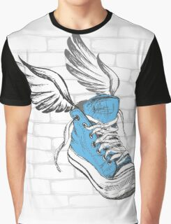 Vintage Sneakers with wings, hand drawing Graphic T-Shirt