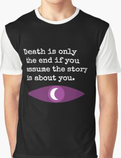 Welcome To Night Vale Death Design BLACK & WHITE Graphic T-Shirt