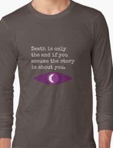 Welcome To Night Vale Death Design BLACK & WHITE Long Sleeve T-Shirt