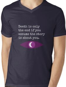 Welcome To Night Vale Death Design BLACK & WHITE Mens V-Neck T-Shirt