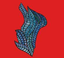 Blue Geometric Mosaic Kids Clothes