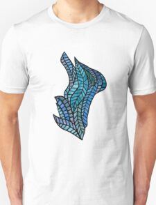 Blue Geometric Mosaic T-Shirt