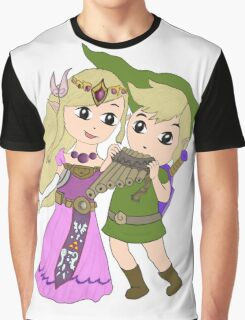 Loz - link and zelda with navi Graphic T-Shirt