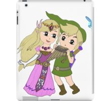 Loz - link and zelda with navi iPad Case/Skin