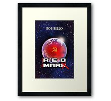 The Very Red Mars Framed Print
