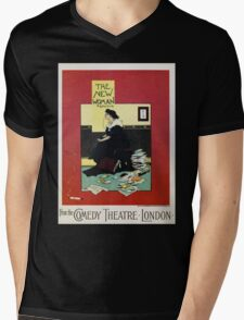The New Woman, vintage Comedy Theatre london advert Mens V-Neck T-Shirt